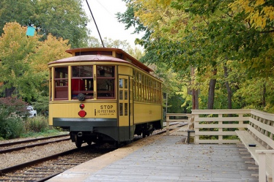 This is one of the famous trolleys in Linden Hills, Minneapolis Minnesota.