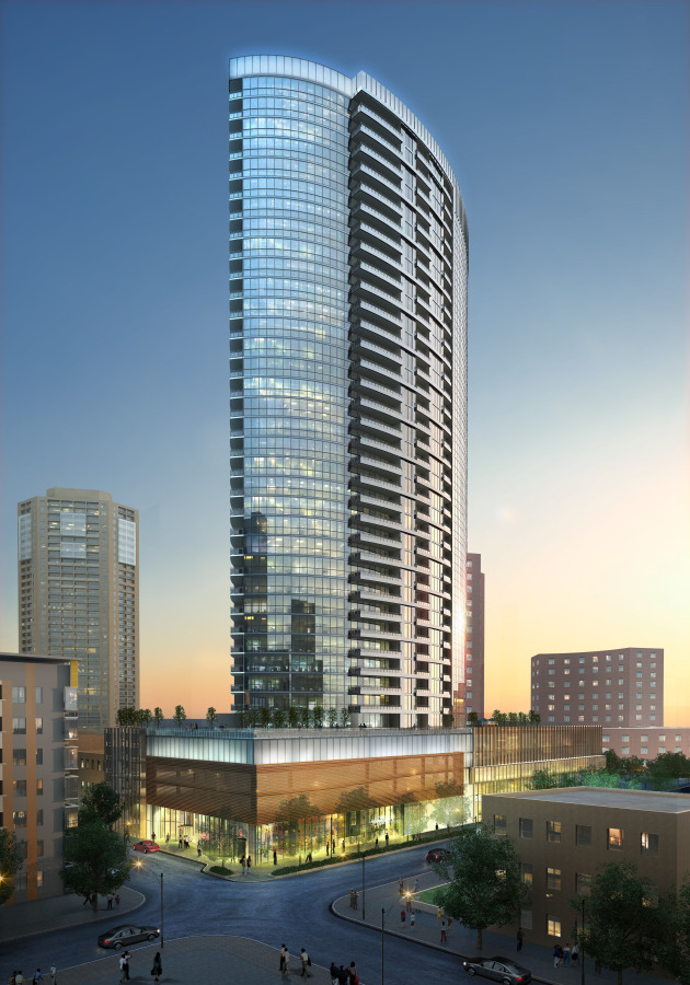 This is a tower that will be built in downtown Minneapolis in the neighborhood of Loring Park
