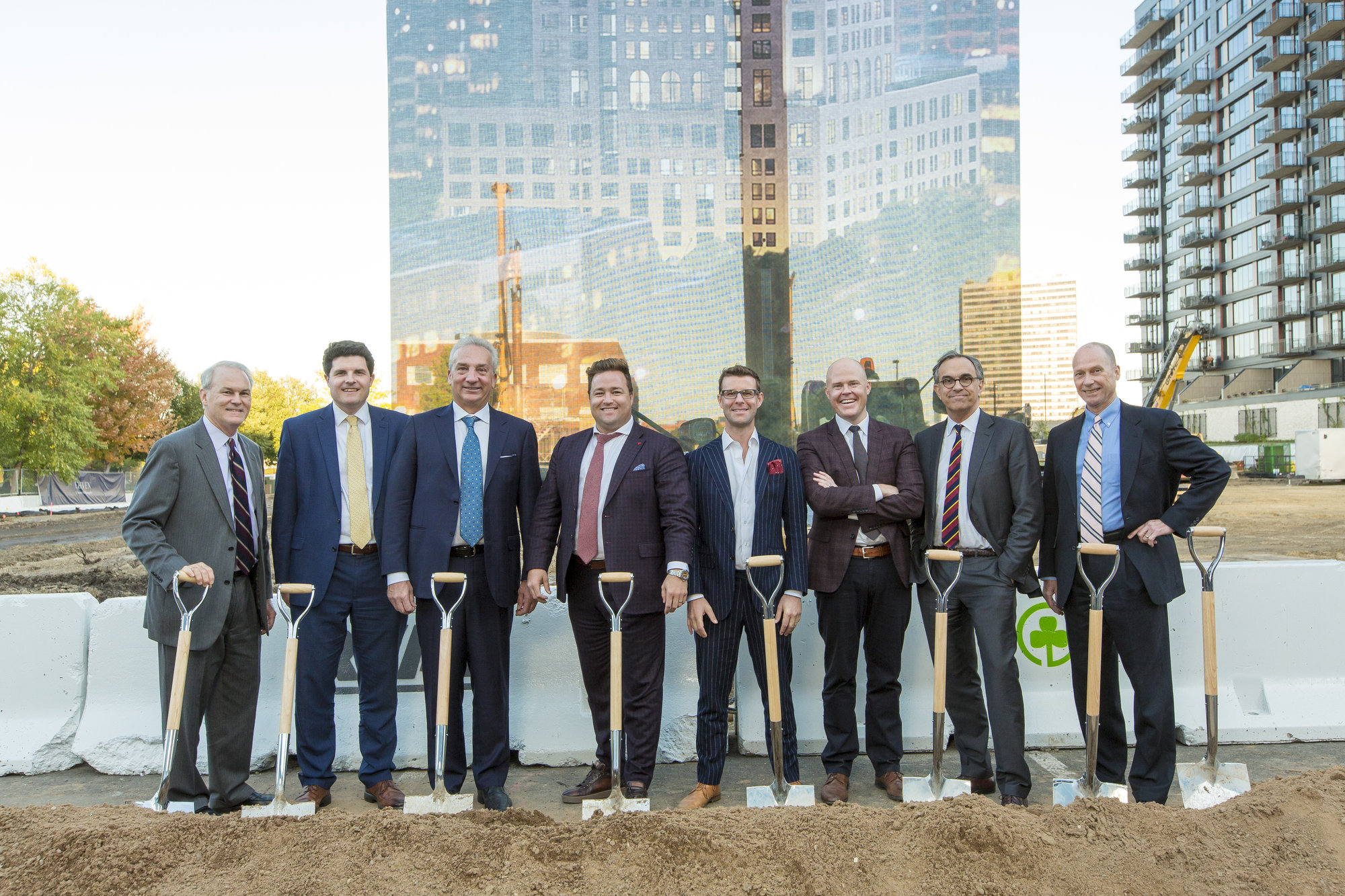 Ground breaking of Eleven on the river condos